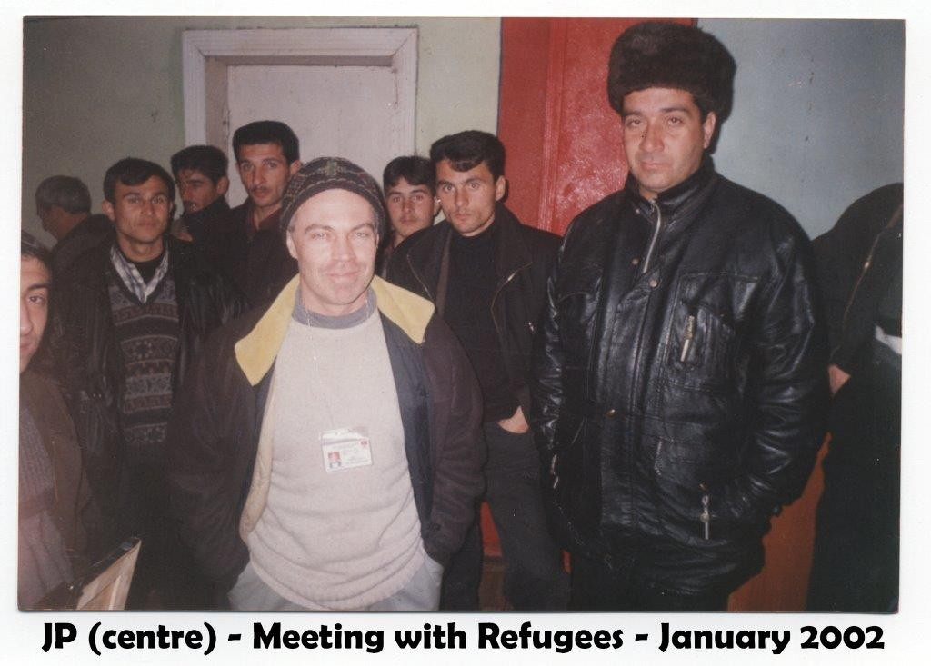 azerbaijan hockey MEETING REFUGEES 2002